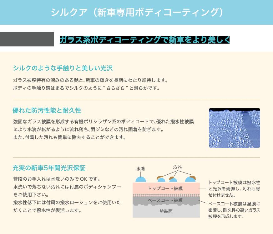 シルクア(新車専用ボディコーティング)